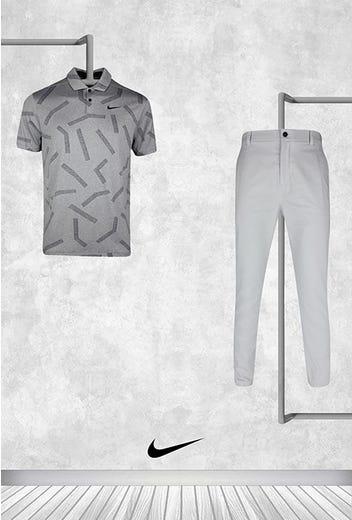 Sam Horsfield - US PGA Thursday - Grey Nike Golf Shirt 2021