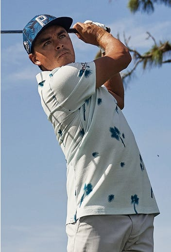 PUMA Golf - Rickie Fowler Seersucker Polo Shirt - US PGA 2021
