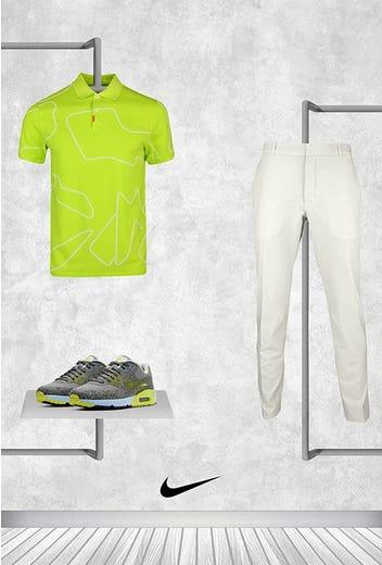 Tommy Fleetwood - Masters Sunday - Bright Green Nike Golf Shirt 2021