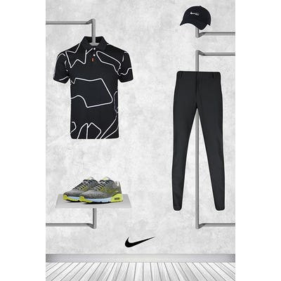 Tommy Fleetwood - Masters Thursday - Black Line Graphic Nike Polo 2021
