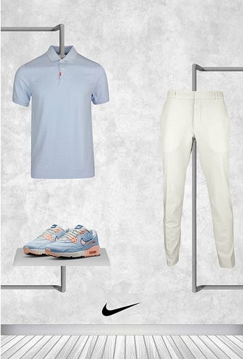 Tommy Fleetwood - US PGA Thursday - Blue Nike Shirt 2021