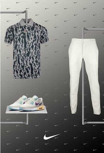 Tommy Fleetwood - US Open Thursday - Nike Bark Print Polo 2021