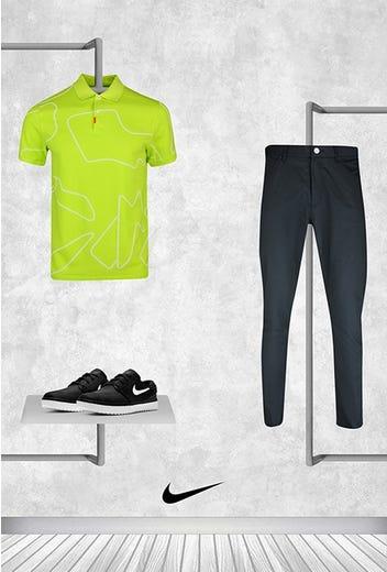 Tony Finau - Masters Friday - Bright Green Nike Golf Line Polo 2021