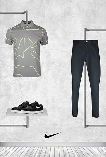 Tony Finau - Masters Thursday - Line Graphic Nike Golf Shirt 2021