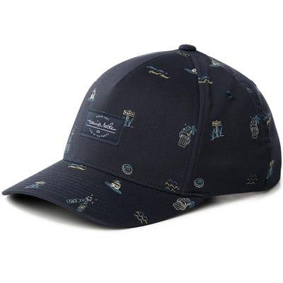 TravisMathew Golf Cap - Sand Angel Snapback - Mood Indigo SU21