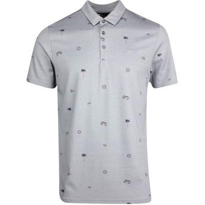 TravisMathew Golf Shirt - Drive Down Polo - Htr Quiet Shade SU21