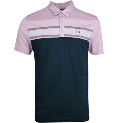 TravisMathew Golf Shirt - We Have Fun Polo - Htr Grapeade SU21