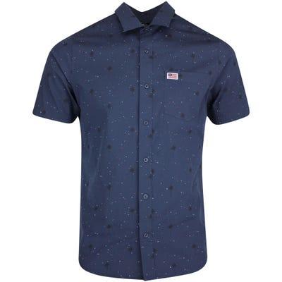 TravisMathew Golf Shirt - Dusk to Dawn Button Up - Blue Nights SS21