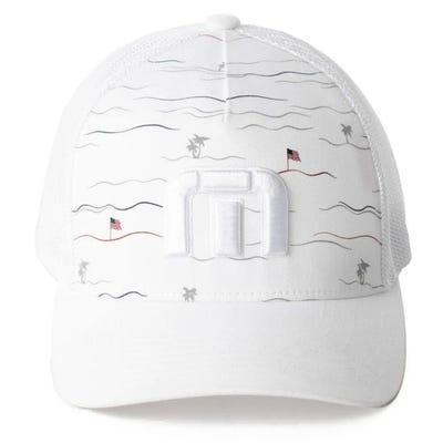 TravisMathew Golf Cap - Jacked Snapback - White SS21