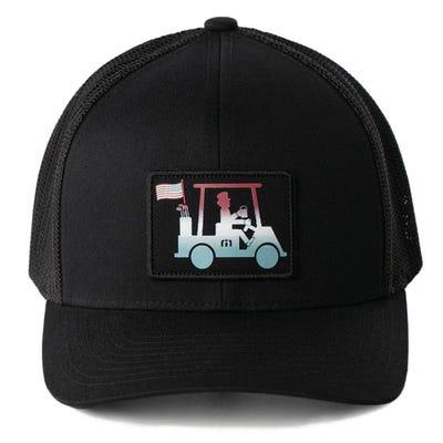 TravisMathew Golf Cap - Hard Flex Snapback - Black SS21