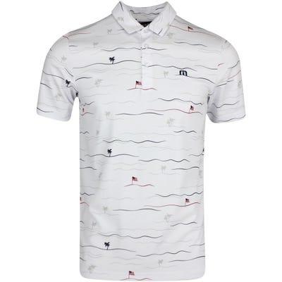 TravisMathew Golf Shirt - Firework Polo - White SS21
