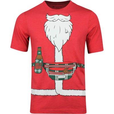 TravisMathew Golf T-Shirt - Christmas Package - Heather Red AW19