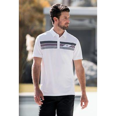 TravisMathew - White Chest Stripe Polo - Campaign SS21