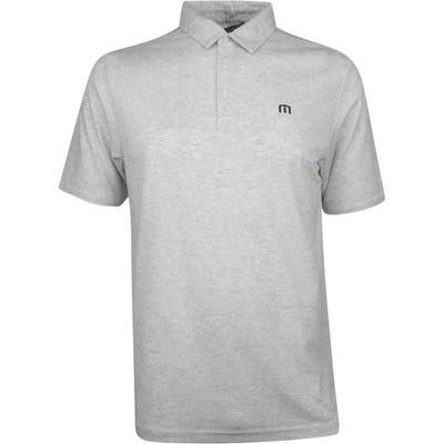 TravisMathew Golf Shirt - Classy Polo - Heather White SS21