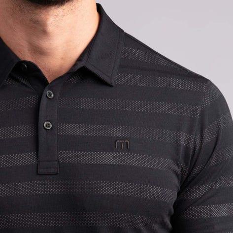 TravisMathew Golf Shirt - Heater Stripe Polo - Black SS20