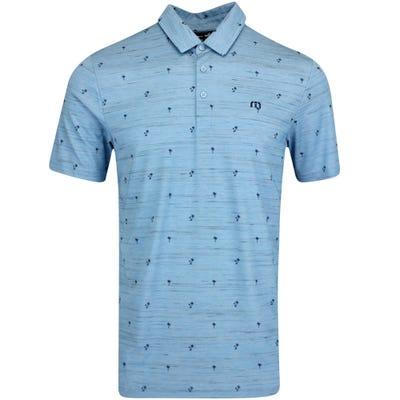 TravisMathew Golf Shirt - Good Time Polo - Htr Blue SU21