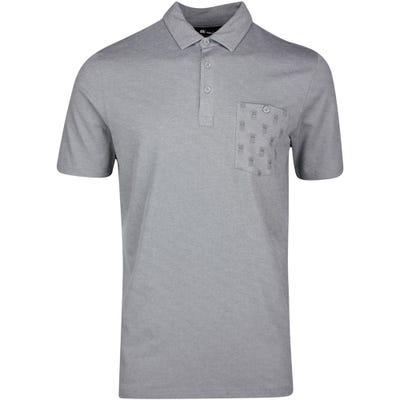 TravisMathew Golf Shirt - Can Can Polo - Htr Quiet Shade SS21