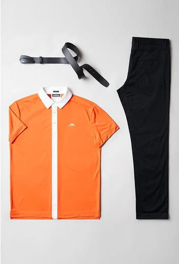 Viktor Hovland - Masters Saturday - Orange J.Lindeberg Golf Shirt 2021
