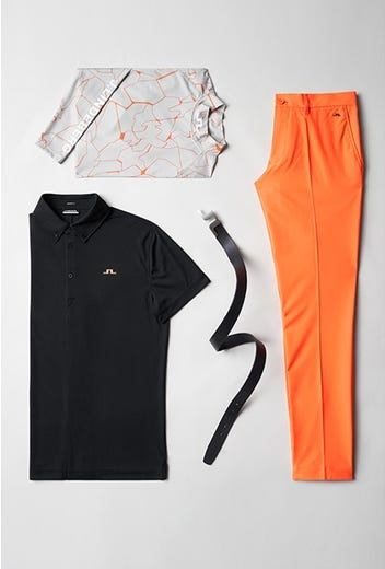 Viktor Hovland - Masters Sunday - Orange JL Golf Trousers 2021