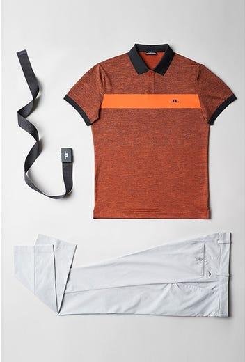 Viktor Hovland - Masters Thursday - Orange JL Golf Shirt 2021