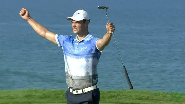 Martin-Kaymer-Wears-Blue-Print-Shirt-PGA