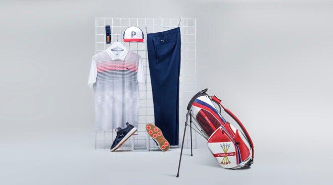 Rickie-Fowler-US-Open-Stand-Bag-Thursday-PUMA-2018