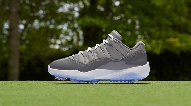 Jordan 11 Golf Shoes   Nike Cool Grey Release 2019