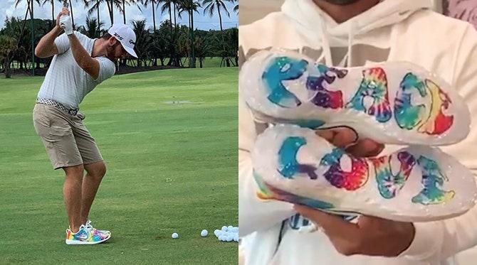 Nike Tie Dye Golf Shoes | Brooks Koepka & Matthew Wolff PGA