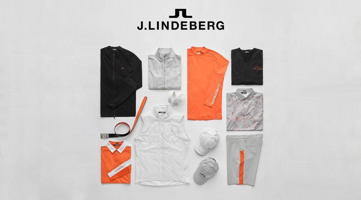 J Lindeberg Lava Orange Colour Drop Laydown