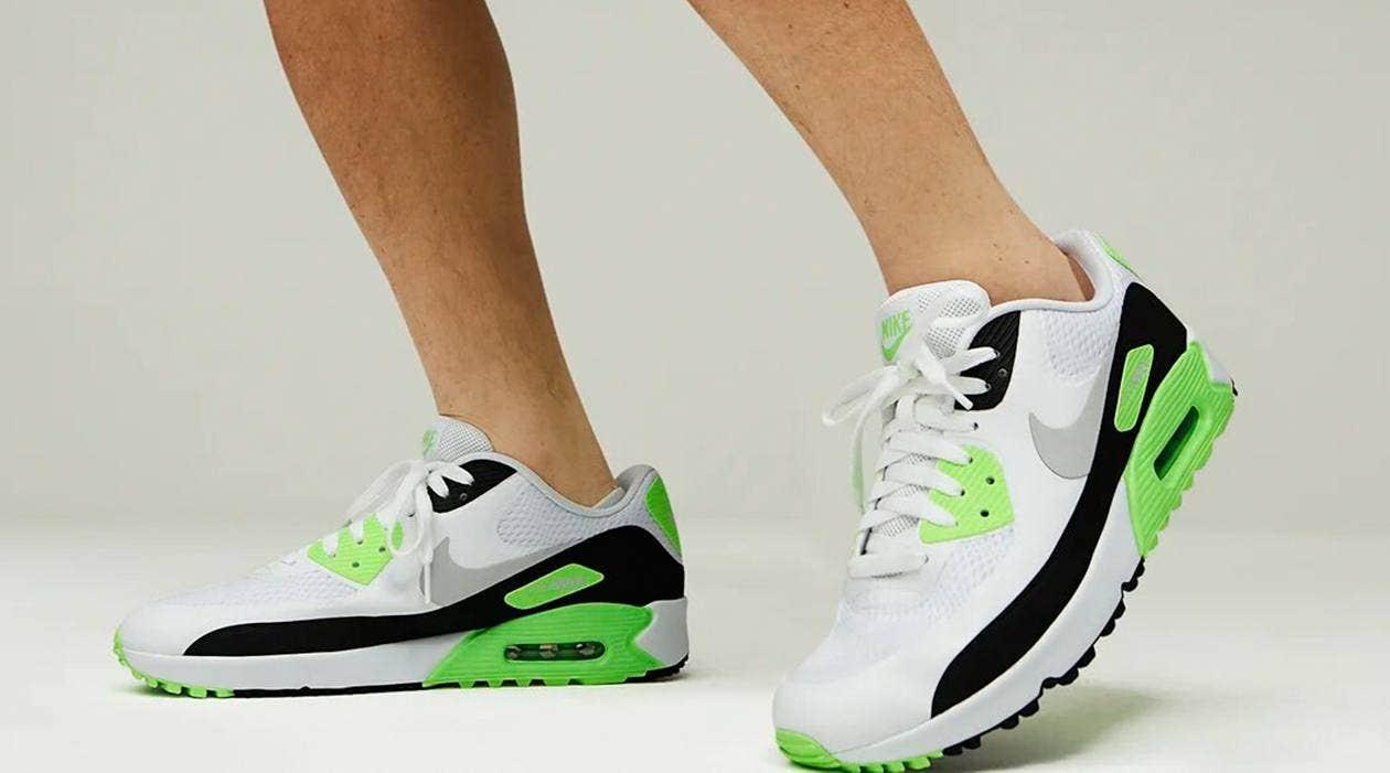 Nike Air Max 90 Golf Shoes Flash Lime Model