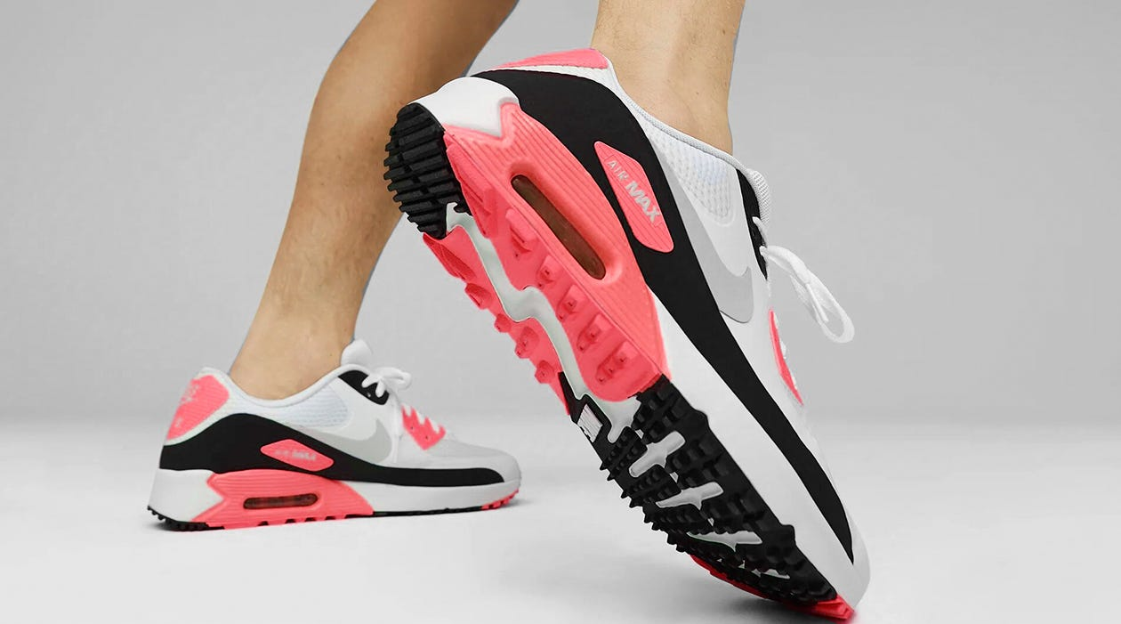 Nike Air Max 90 Golf Shoes Infrared 2021