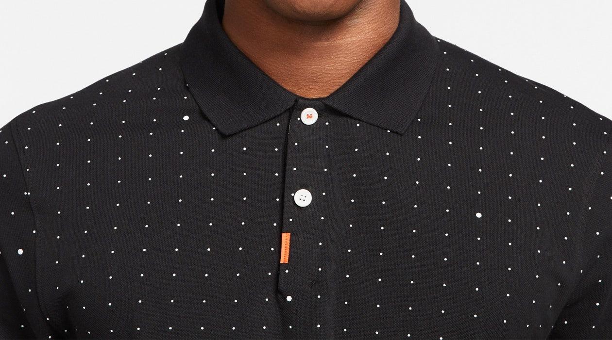 Nike Space Dot Print Polo Shirt Black