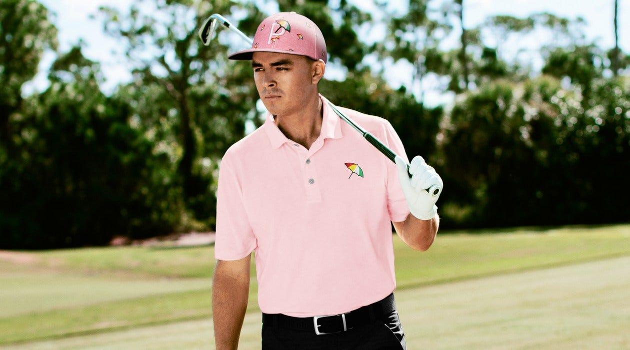 PUMA Arnold Palmer Golf Clothing Umbrella Logo Pink