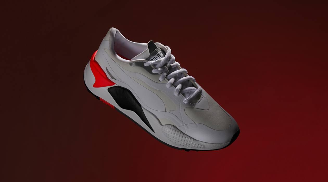 PUMA RS-G Golf Shoes White Red Blast