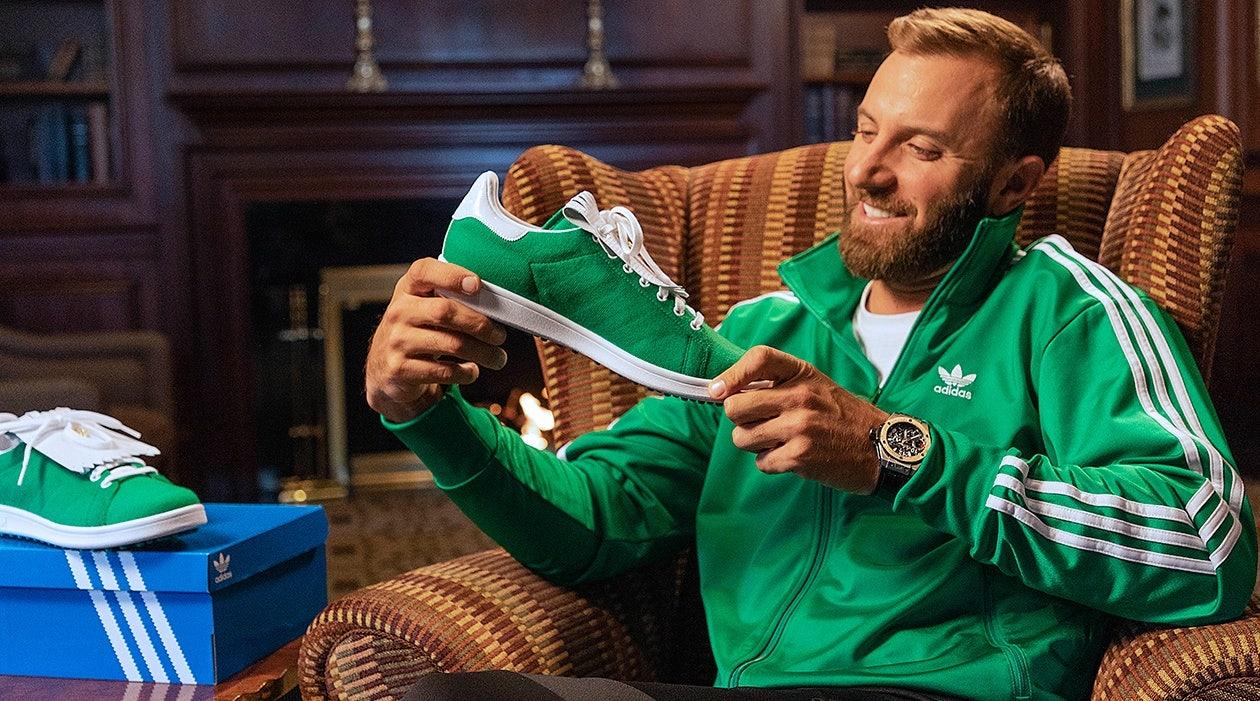 adidas Stan Smith Golf Shoes Dustin Johnson Masters Augusta Green Jacket Primegreen