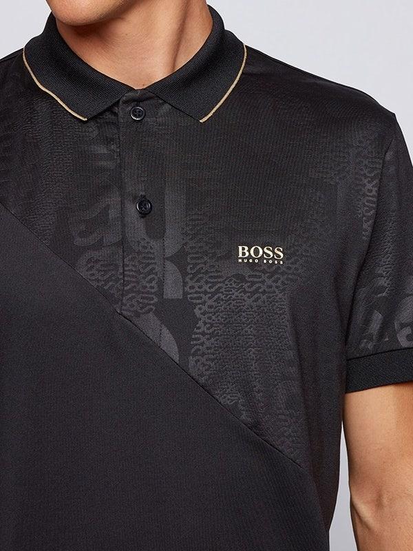 BOSS Paddy Gold Logo Golf Shirt