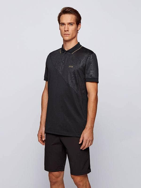 BOSS Paddy Gold Golf Polo Shirt