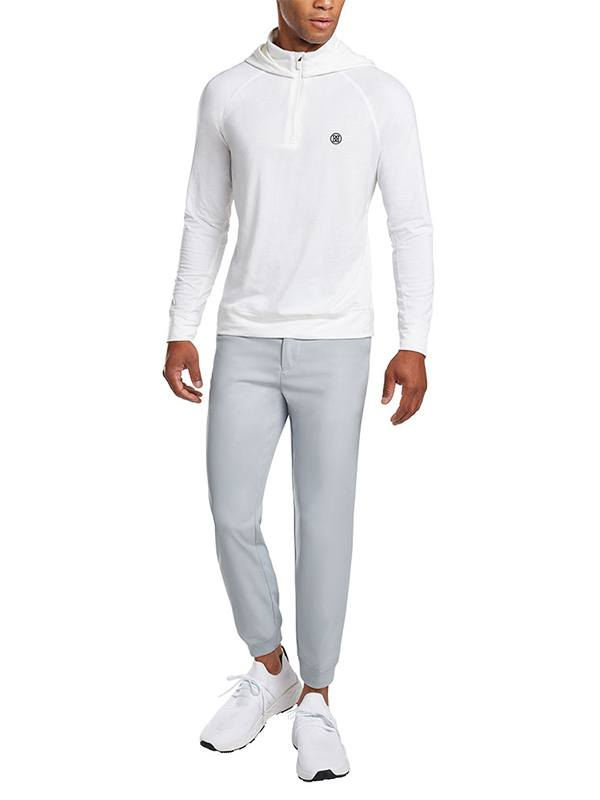 G Fore White Luxe Staple Hoodie