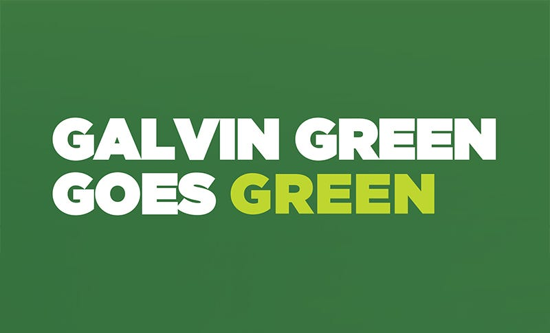 Galvin Green Goes Green