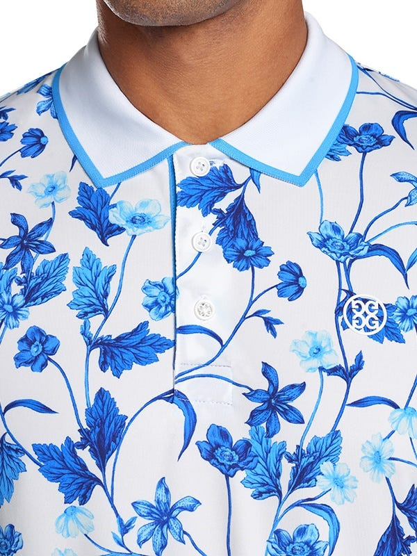 G Fore Blue Floral Print Shirt