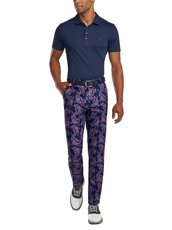 G Fore Paisley Printed Golf Trousers
