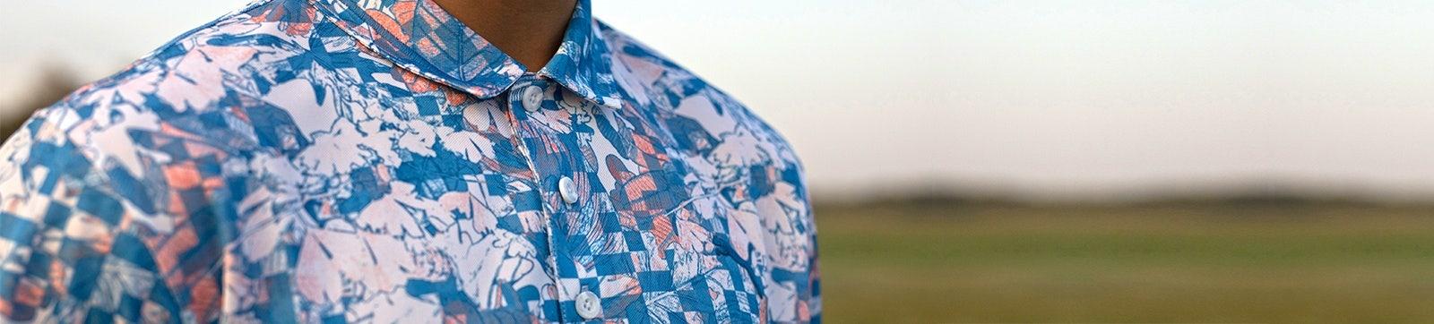 Statement Print Golf Shirts