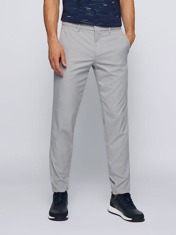 Tapered Technical Golf Trousers Mens Light Grey