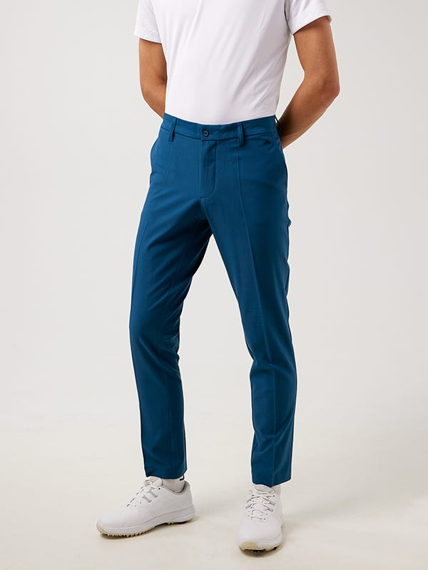 Mens Slim Fit Golf Trousers Majolica Blue Colour