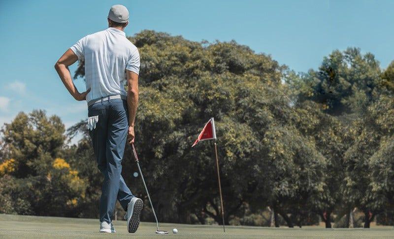 TravisMathew Golfer Standing Image Pose