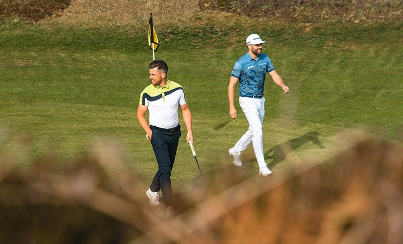 Galvin Green Golfers Walking Machrie Islay
