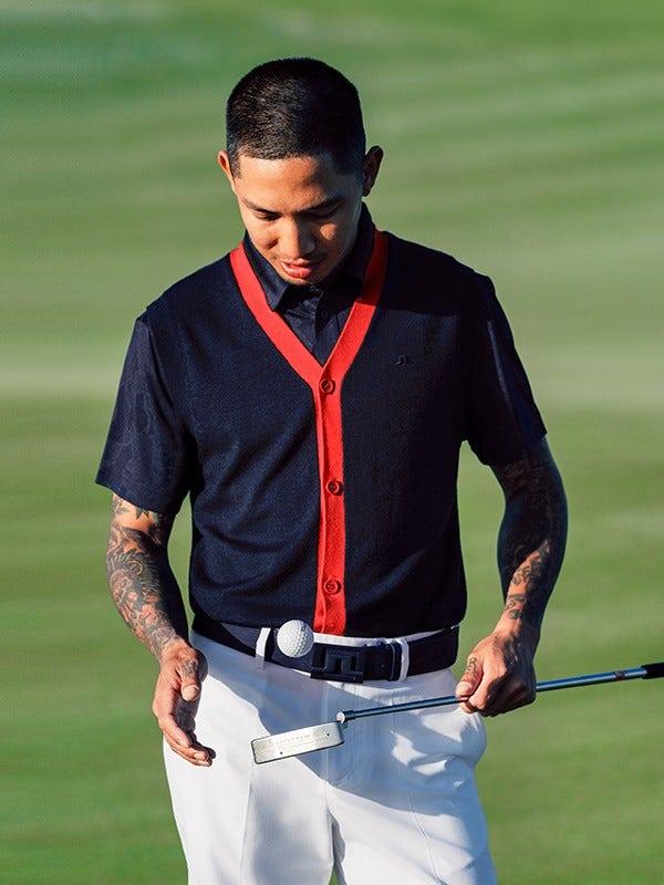 J.Lindeberg Button Up Golf Knitwear Vest 2021