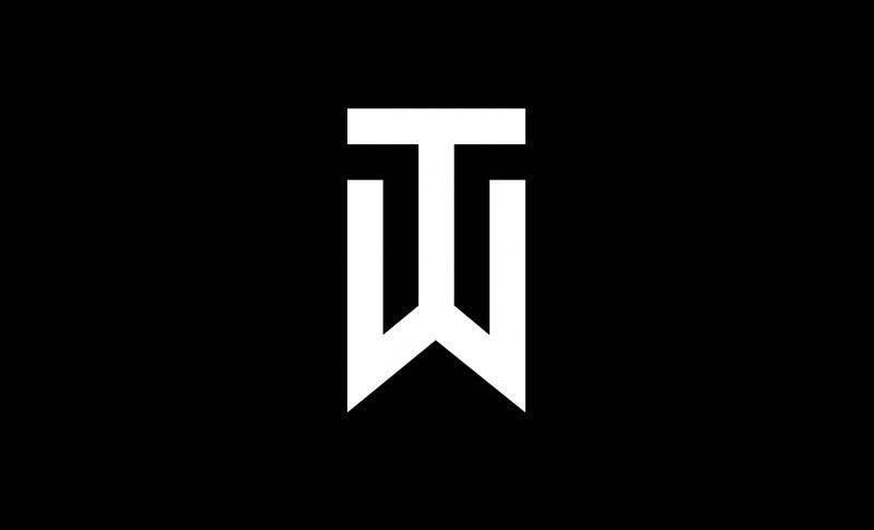 Tiger Woods TW Nike Logo Black