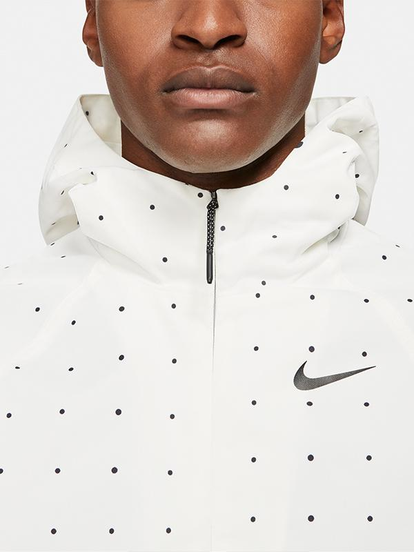 Nike Space Dot Repel Hoodie White Close Up
