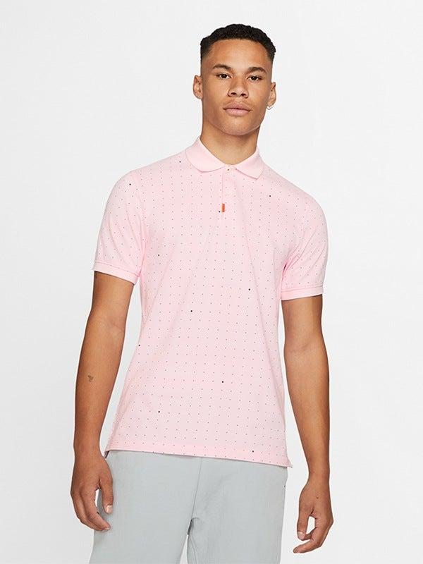 Nike Space Dot Slim Fit Polo Shirt Pink Foam